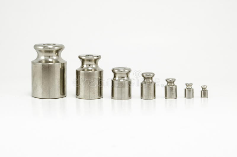 Old scale calibration weights stock photography
