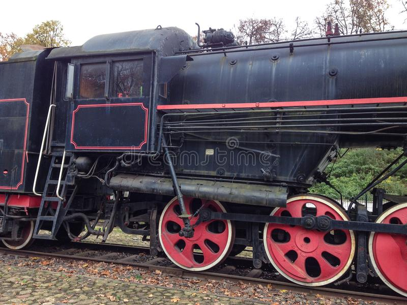 Old school ancient train royalty free stock image