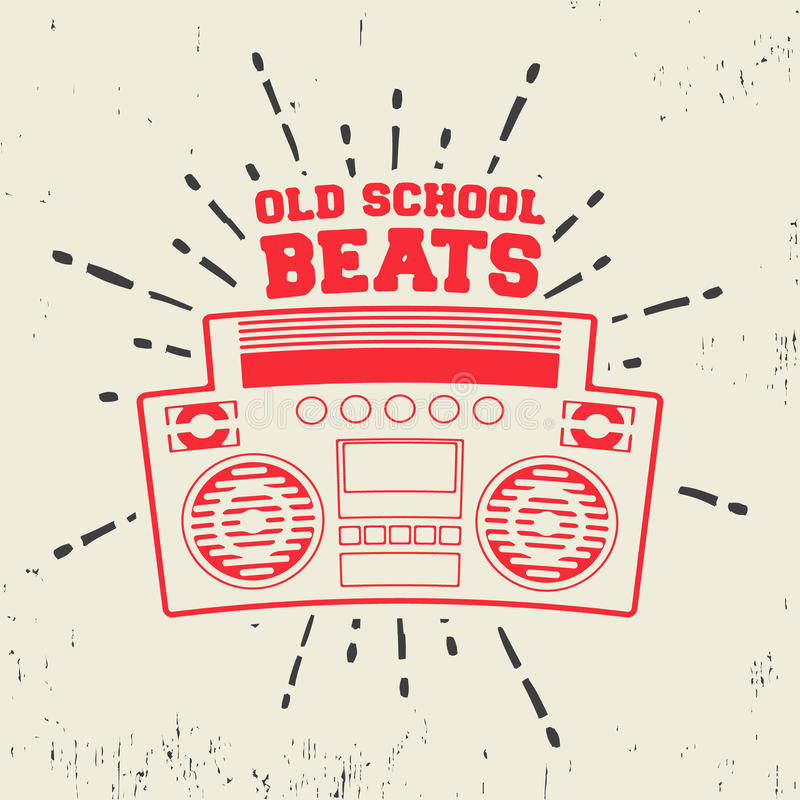 Old school beats vintage stamp. T-shirt print design. Old school beats vintage stamp. Printing and badge applique label t-shirts, jeans, casual wear. Vector vector illustration