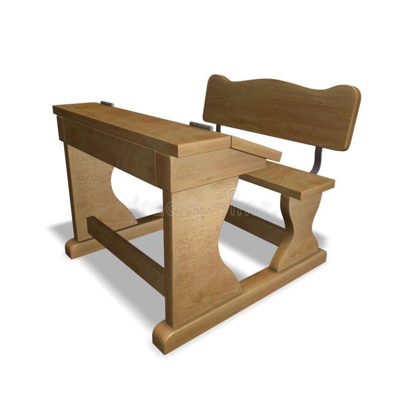 Old school bench stock illustration