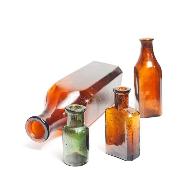 Old school bottles royalty free stock image