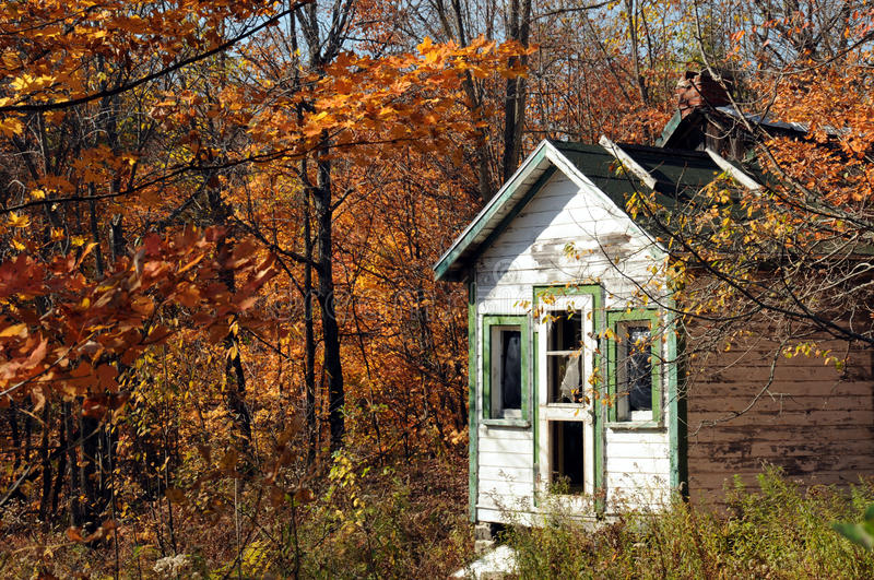 Download Old School House stock photo. Image of leaf, single, autumn - 21574034