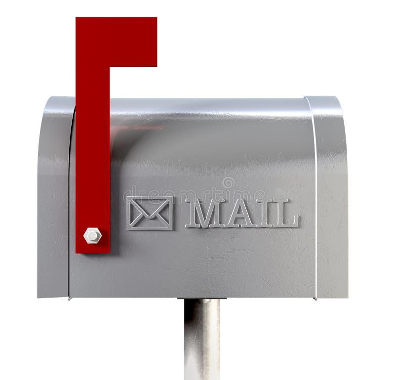 metal mailbox flag. Download Old School Retro Metal Mailbox Side View Stock Illustration - Of Shot, Post Flag L