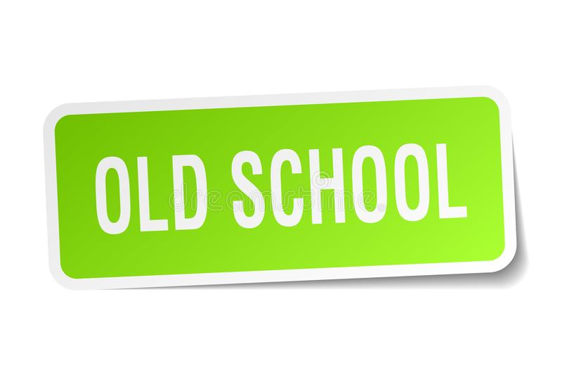 Old school sticker. Old school square sticker isolated on white background. old school vector illustration