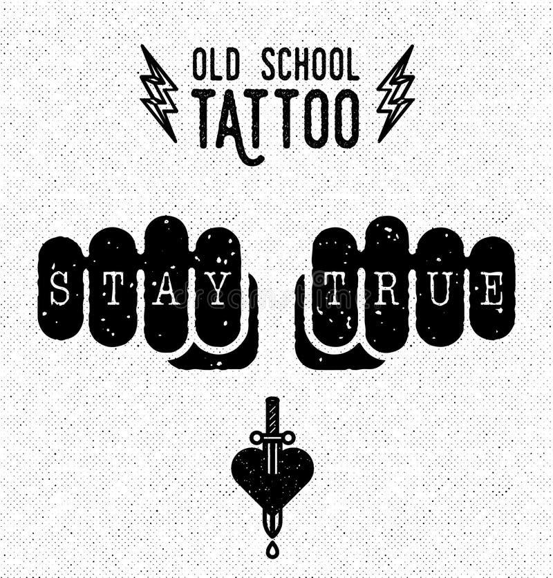 Old school tattoo vector illustration