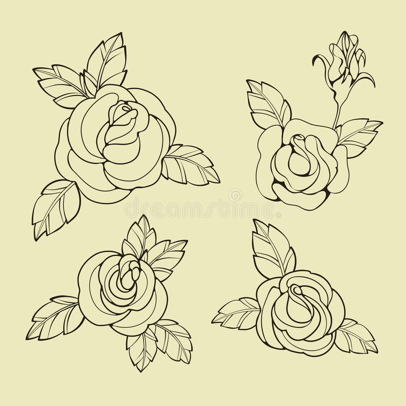 Old School Tattoo Symbols Stock Vector Illustration Of Inking