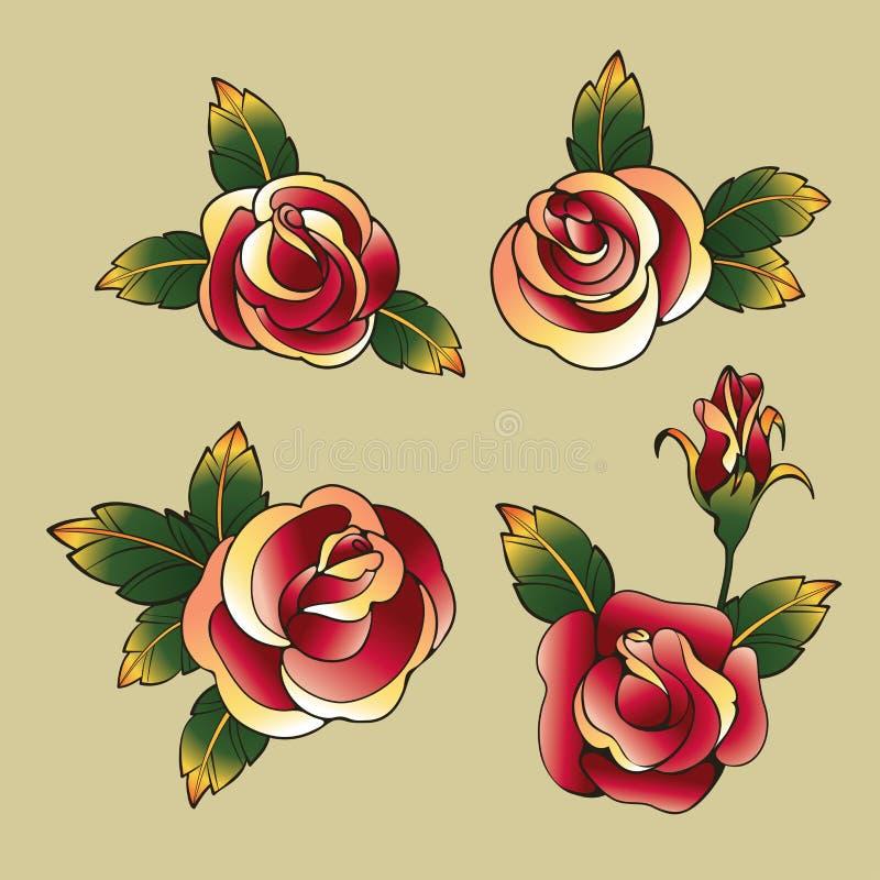 Old School Tattoo Symbols Stock Vector Illustration Of Heart 58236352