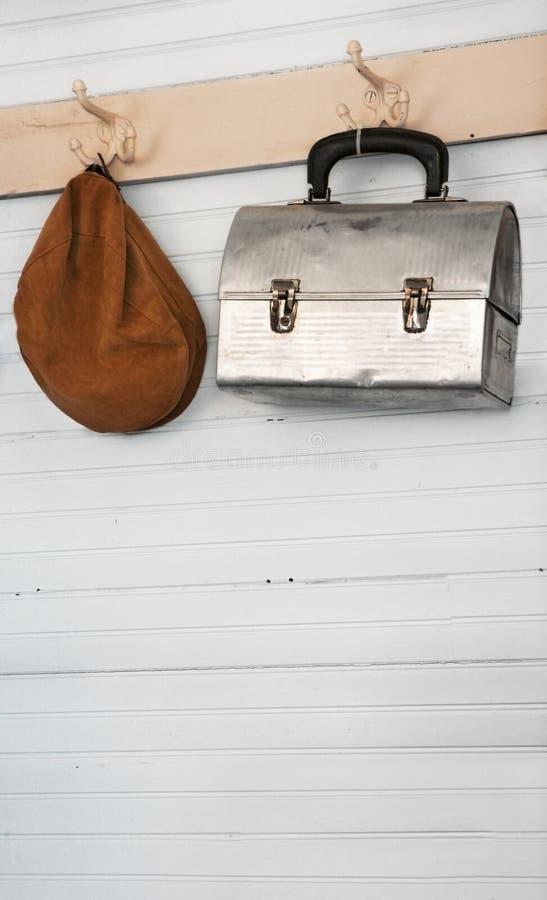 Old Schoolhouse Coatroom stock photo