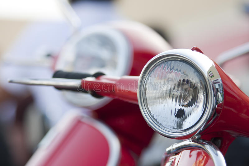 Download Old Scooter Headlight Vs New On The Background Stock Image - Image: 20911151