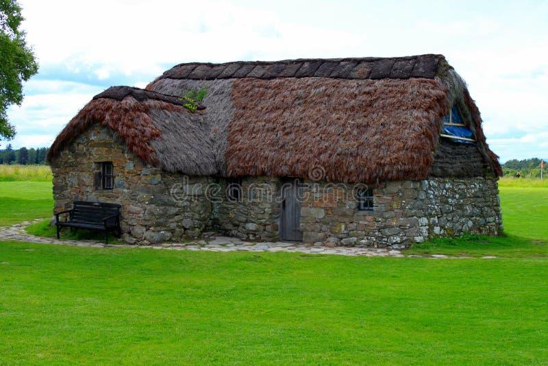 Old Scottish cottage stock image