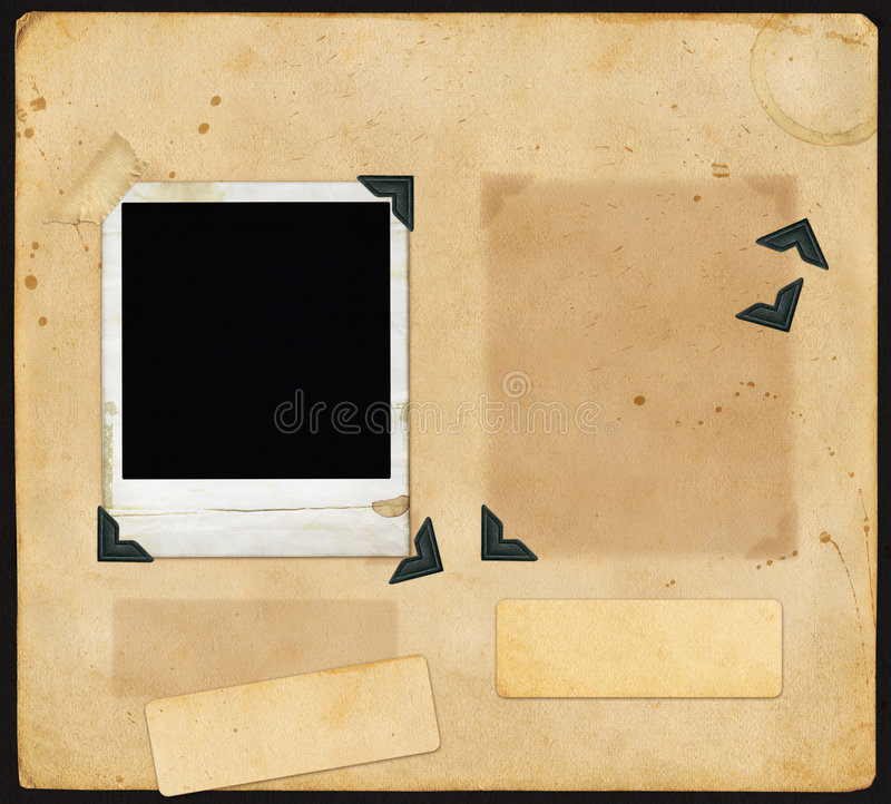 Old Scrapbook Page stock illustration