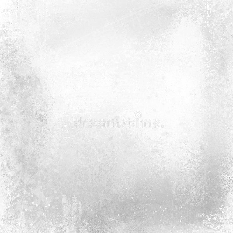 Old scratched grunge white background with black and gray peeling painted metal texture and vintage design. Old antique scratched grunge white background with stock illustration
