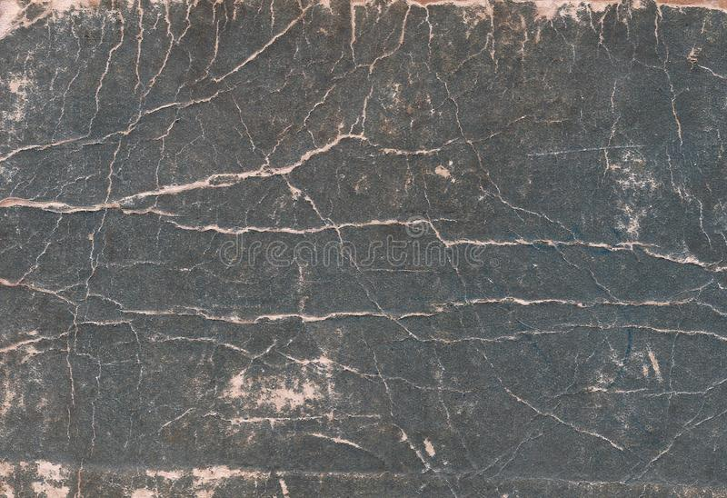 Old scratched and torn paper book cover surface. Abstract background and texture for design royalty free stock images