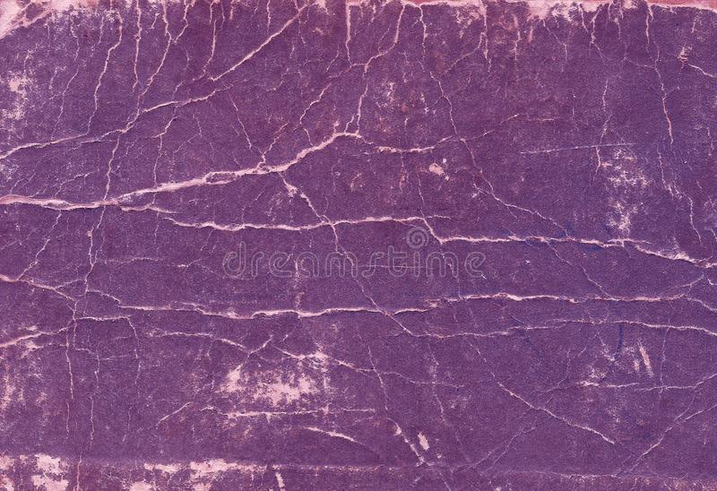 Old scratched and torn paper book cover surface. royalty free stock image