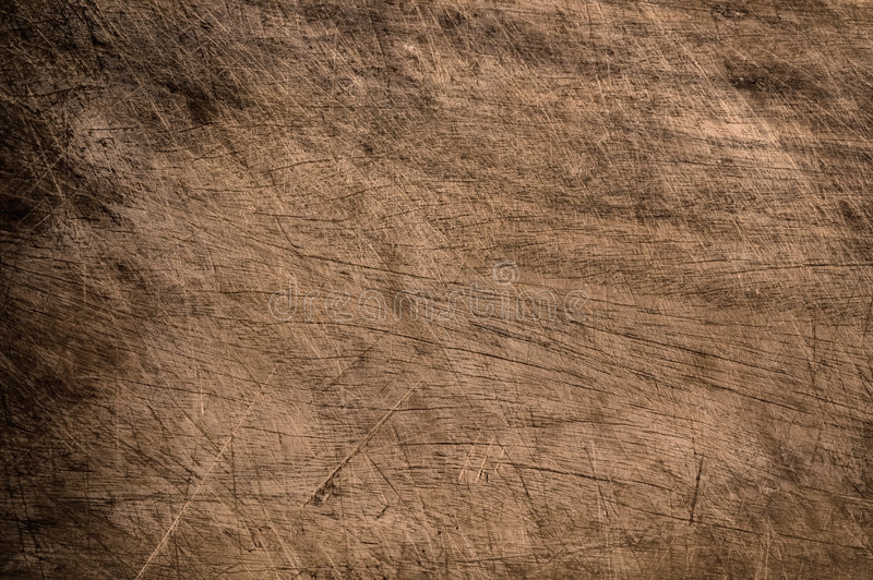 Old scratched wooden table. stock photography