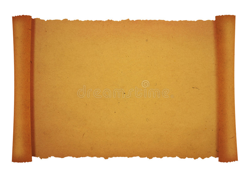 Old scroll stock photo