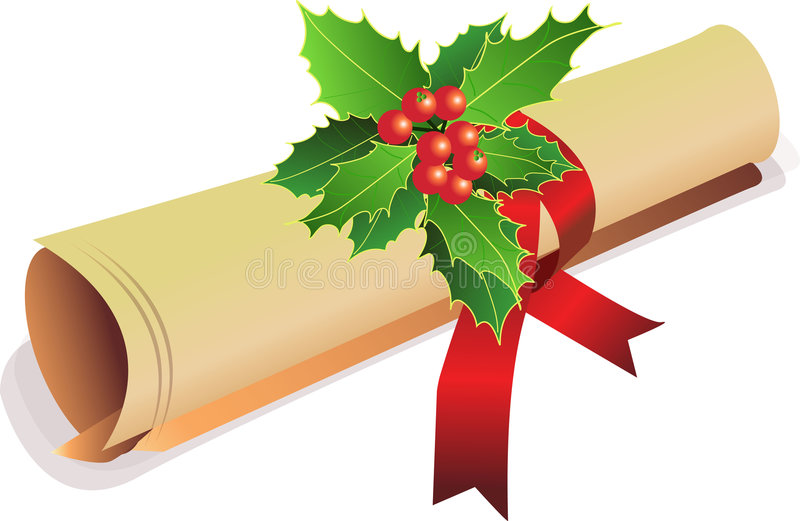 Download Old Scroll Christmas Invite Stock Vector - Image: 3467156