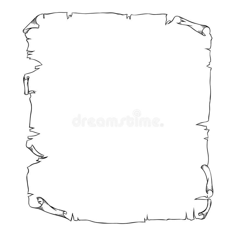 Old scroll page background for your designs and. Messages royalty free illustration