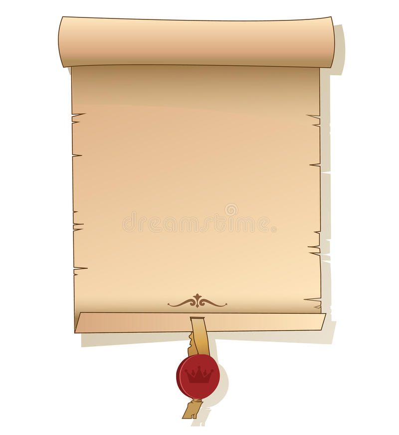 old scroll paper. background with signet. vector template. old, Powerpoint templates