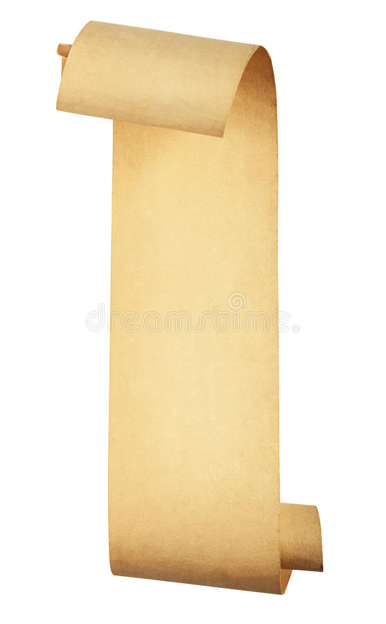 Old scroll paper royalty free stock photo