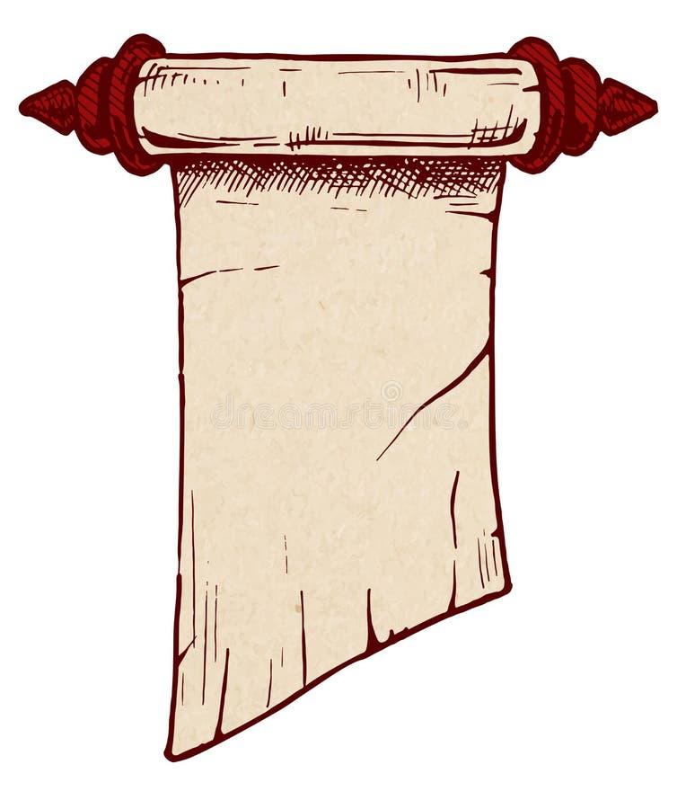 Old scroll vector illustration