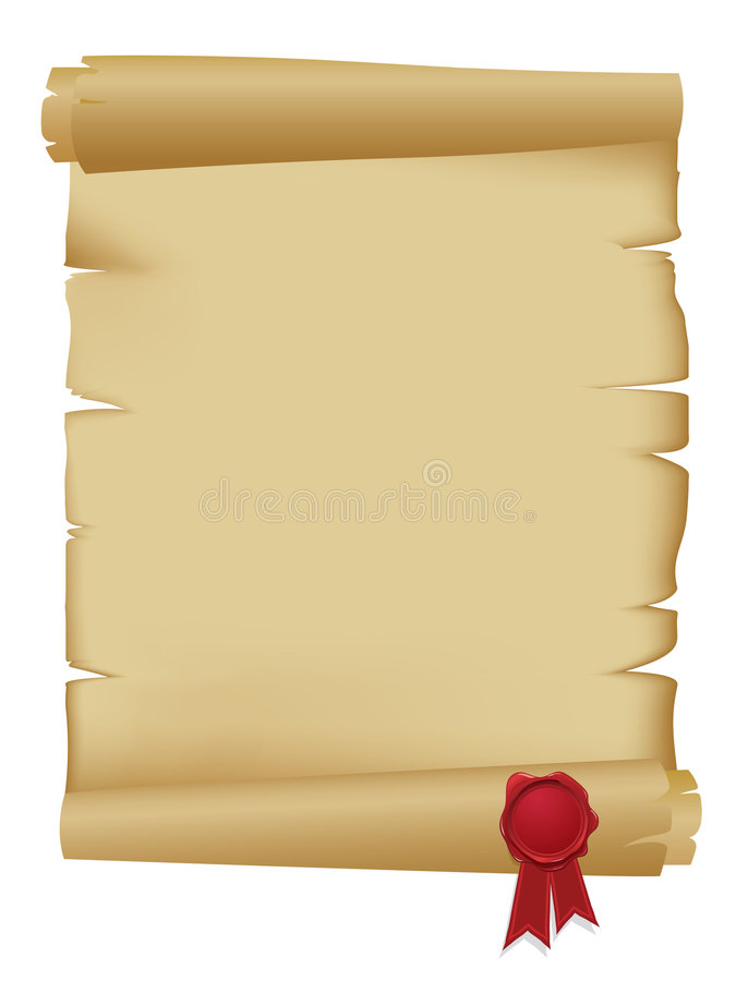 Old Scroll With Wax Seal Stock Photography Image 7677962