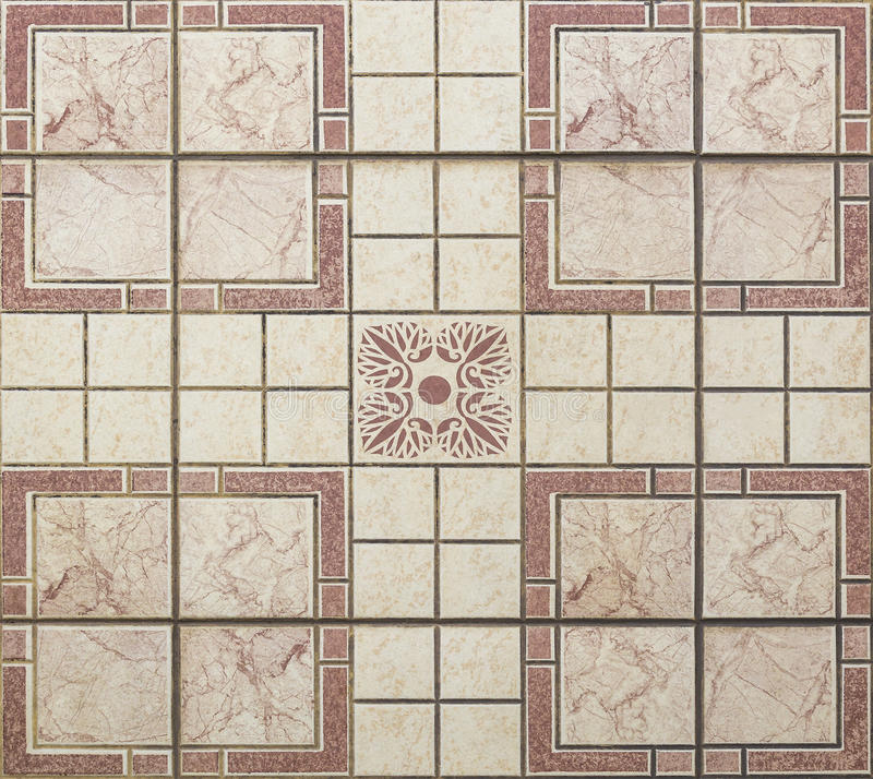 Old seamless floor tiles stock photography