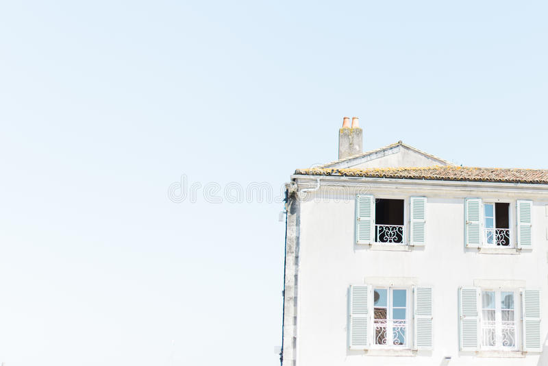 Old seaside town house stock image