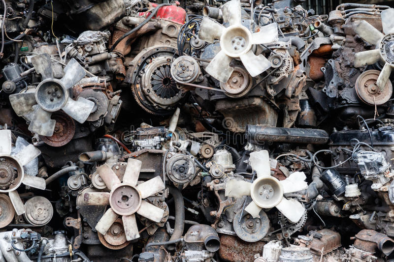 Old Second Hand Spare Part 4 royalty free stock photography