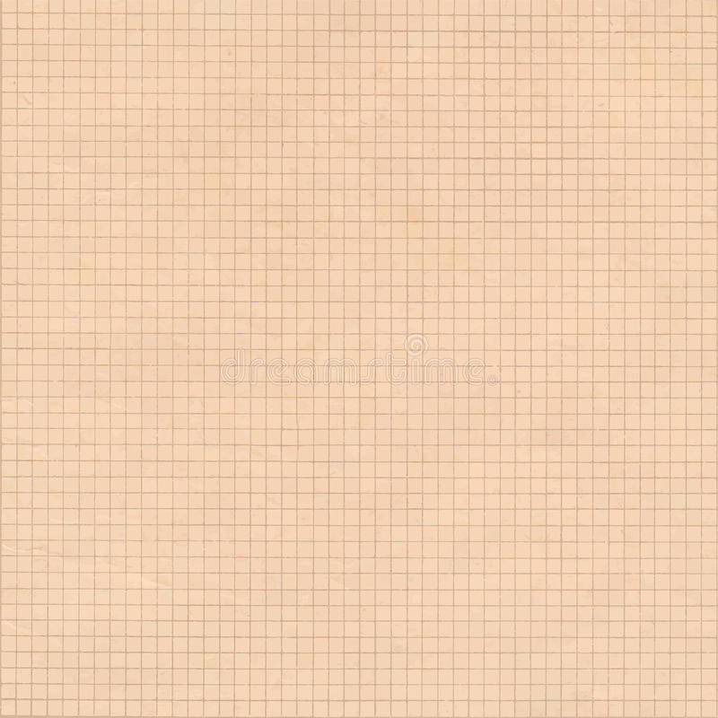 old sepia graph paper square grid background  stock image