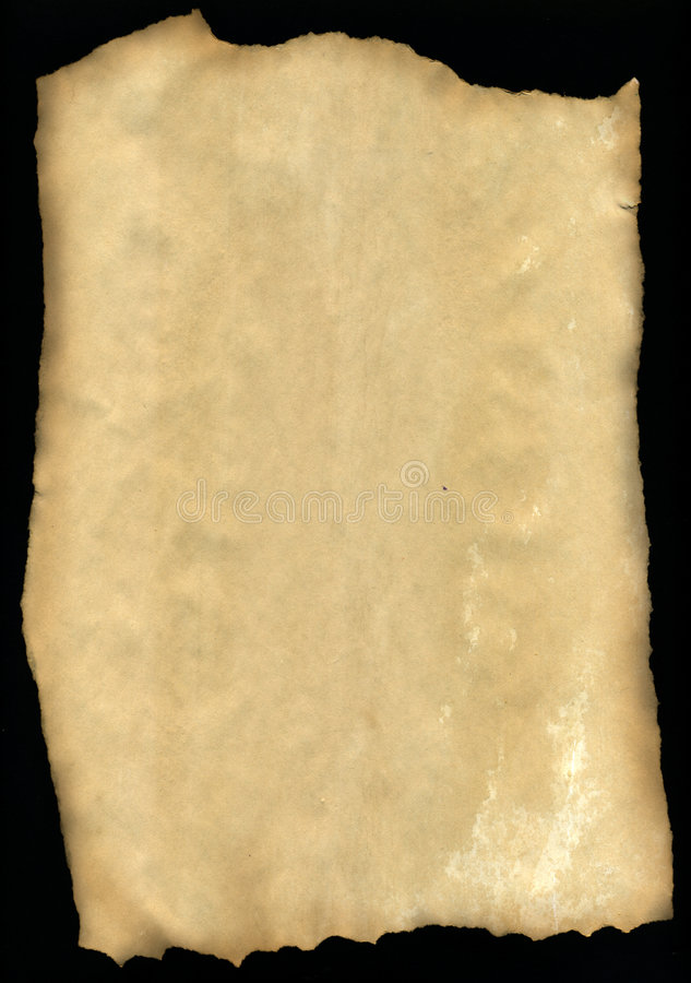 Old sepia parchment stock illustration