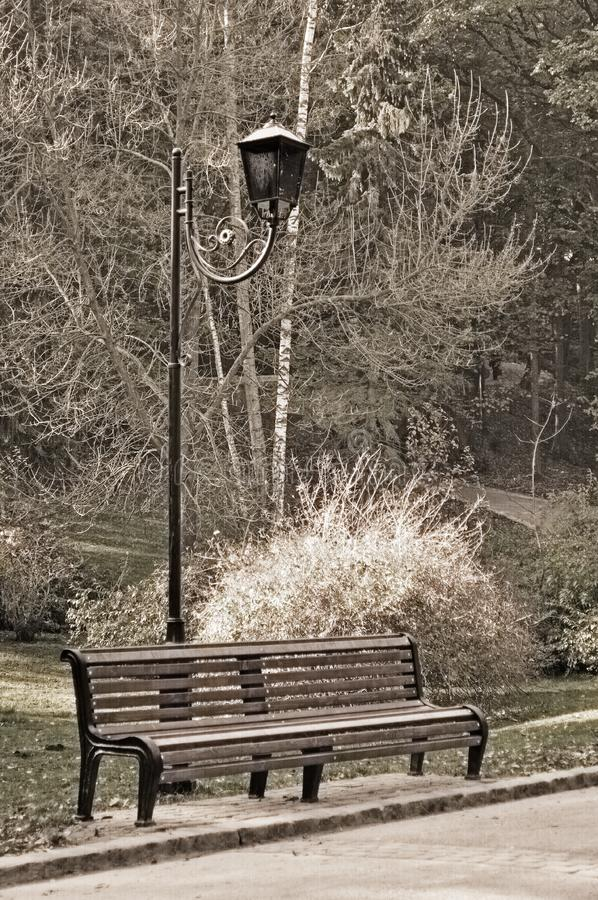 Download Old Sepia Photo Of The Bench Stock Image - Image of brown, autumnal: 16409873