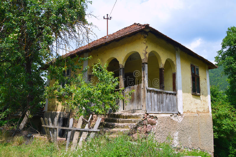 Old Serbian house. Houses made of mud and branches in the beginning of the 20th century represented the most common type of construction of stock photo