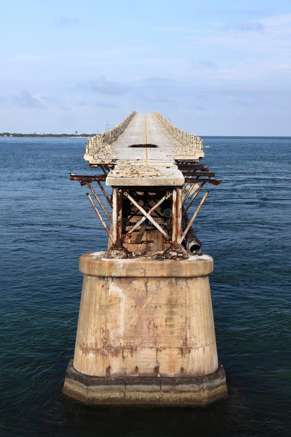 Old Seven Mile Bridge in Florida Keys stock image