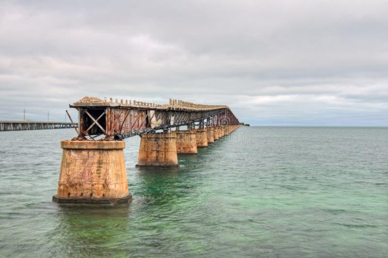 Old Seven Mile Bridge. The Old Seven Mile Bridge in the Florida Keys stock photos