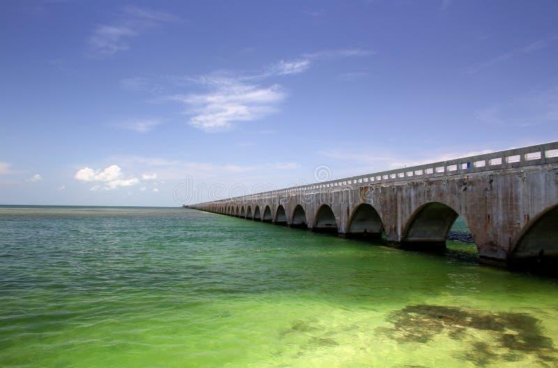 Old Seven Mile Bridge Florida Keys stock photo