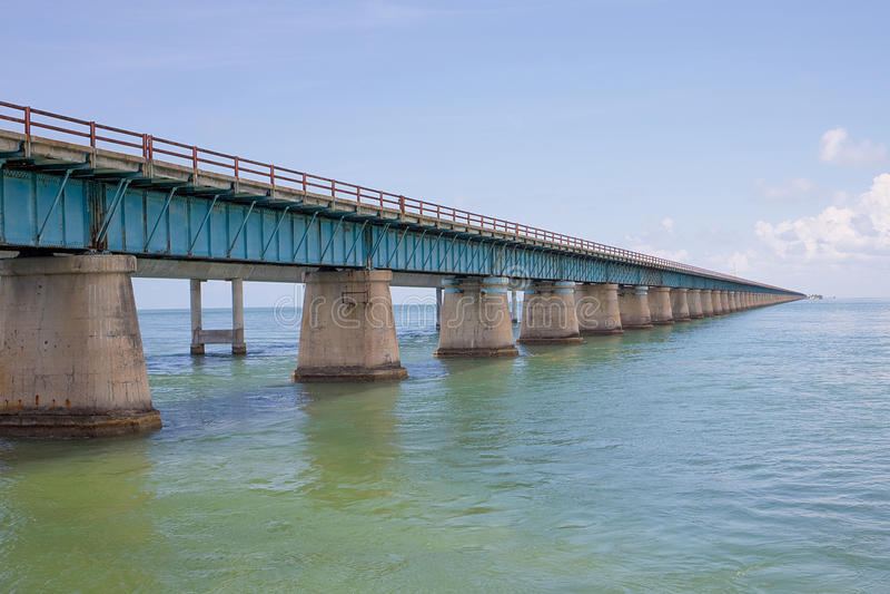 The Old Seven Mile Bridge. Old Seven Mile bridge in the Florida Keys royalty free stock photos