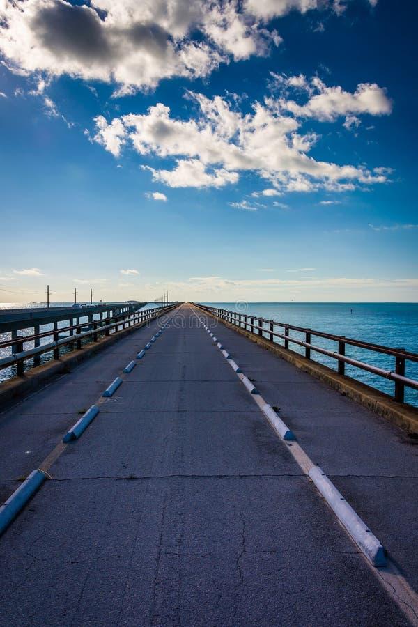 The Old Seven Mile Bridge, on Overseas Highway in Marathon, Florida. royalty free stock photography