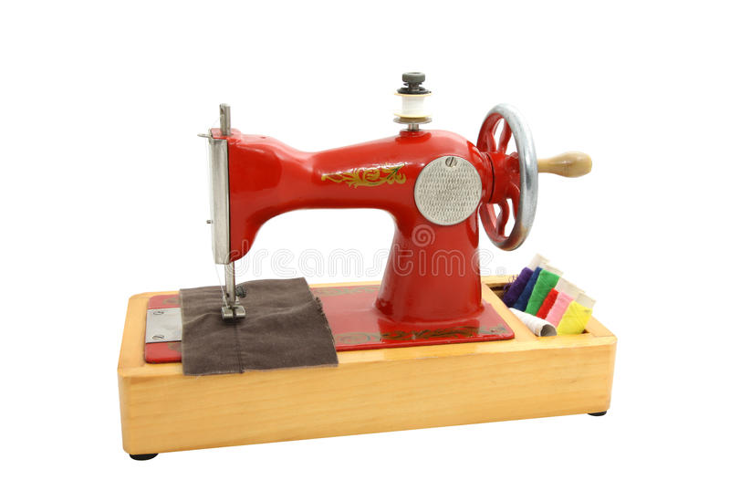 Download Old sewing machine stock image. Image of isolated, sewing - 15408727