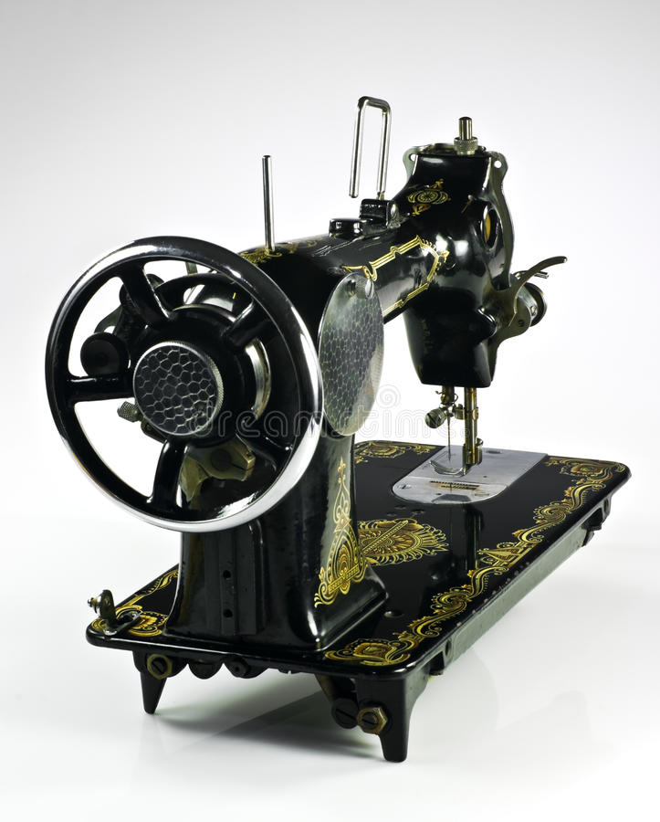 Download Old sewing machine stock photo. Image of tailor, manual - 18496084
