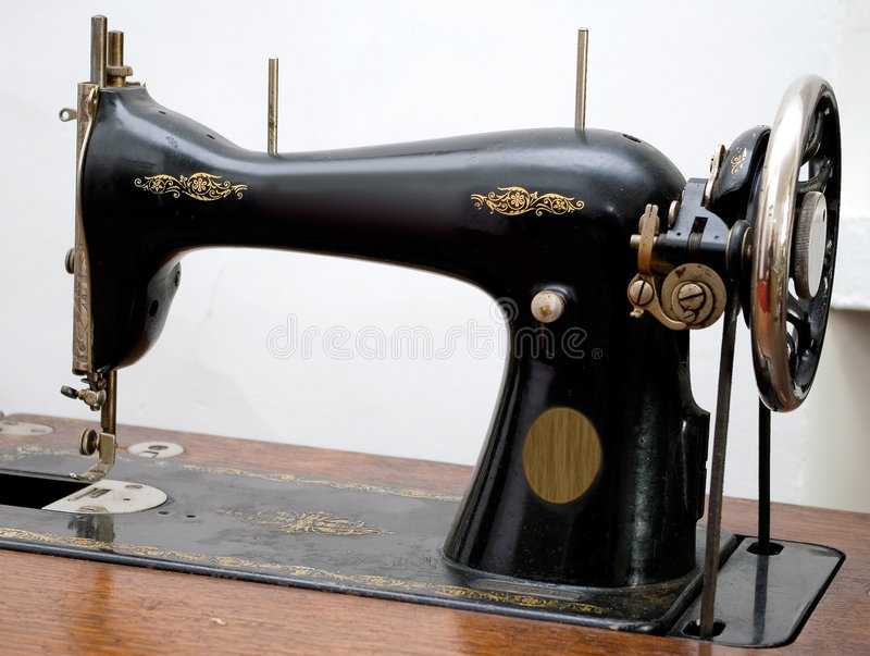 Old sewing machine. stock images