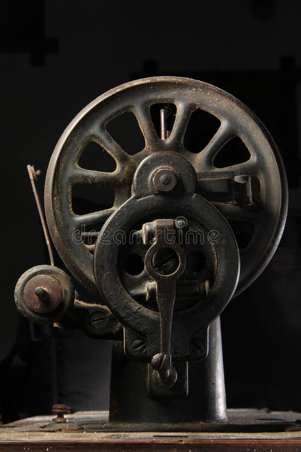 Old sewing machine closeup royalty free stock photography