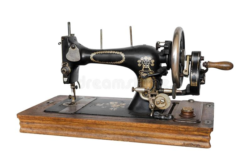 Old sewing machine. royalty free stock photo