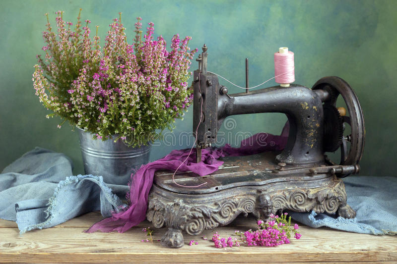 Old sewing machine royalty free stock image