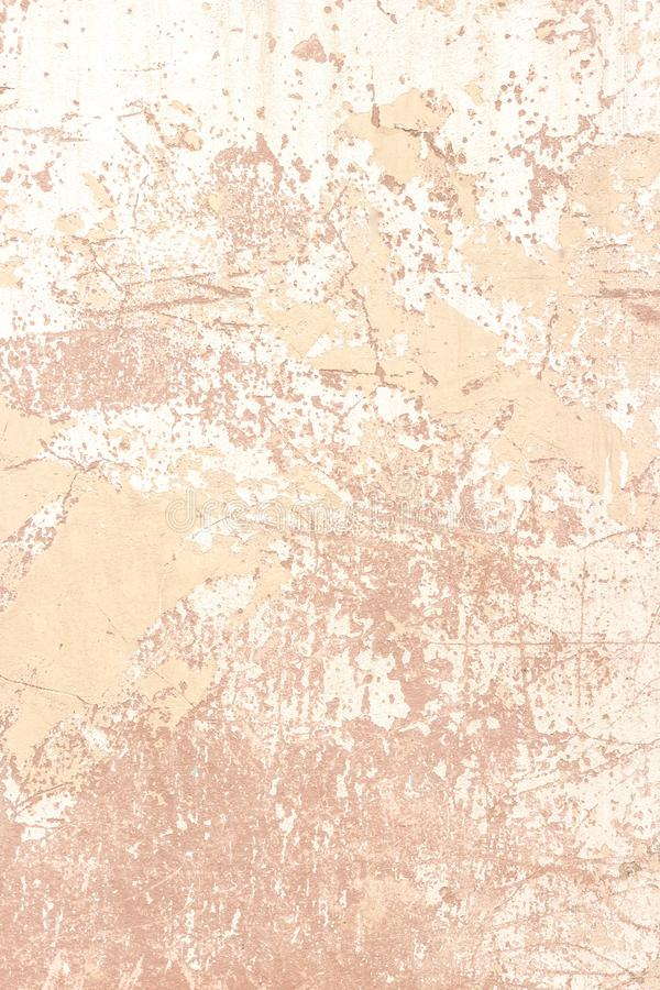 Old shabby plaster wall of coral shade.  royalty free stock photos