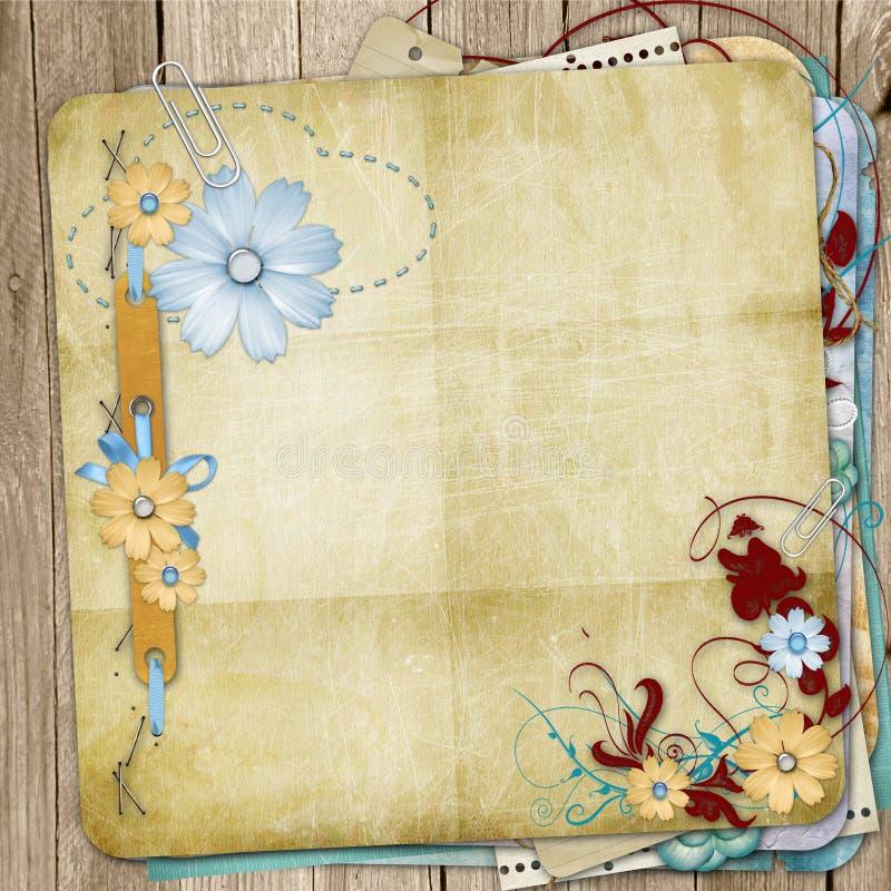 Old shabby style photoalbum royalty free stock image