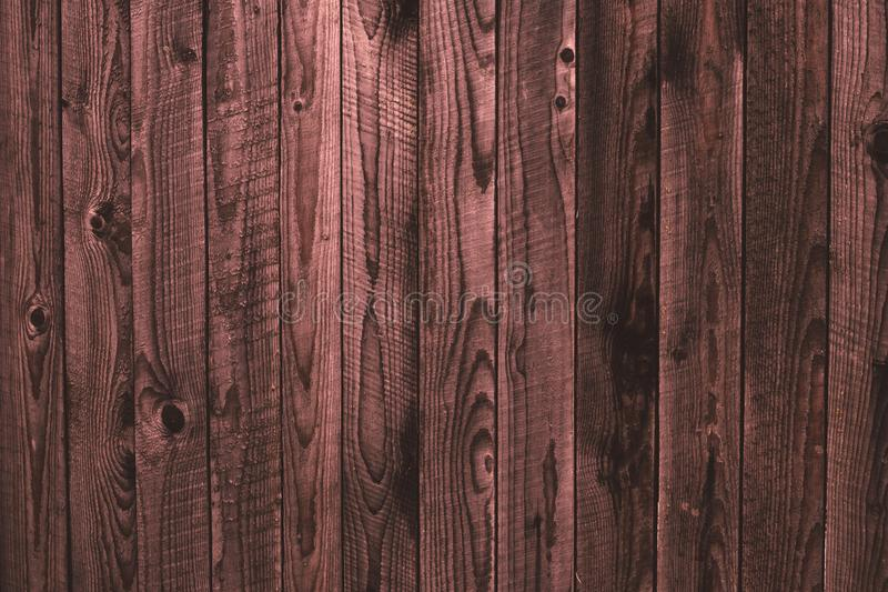 Old shabby wooden pink fence, wood surface. Dilapidated pink wooden boards, grunge wood pattern texture background, wooden planks. Oak dirty wall. Weathered royalty free stock image