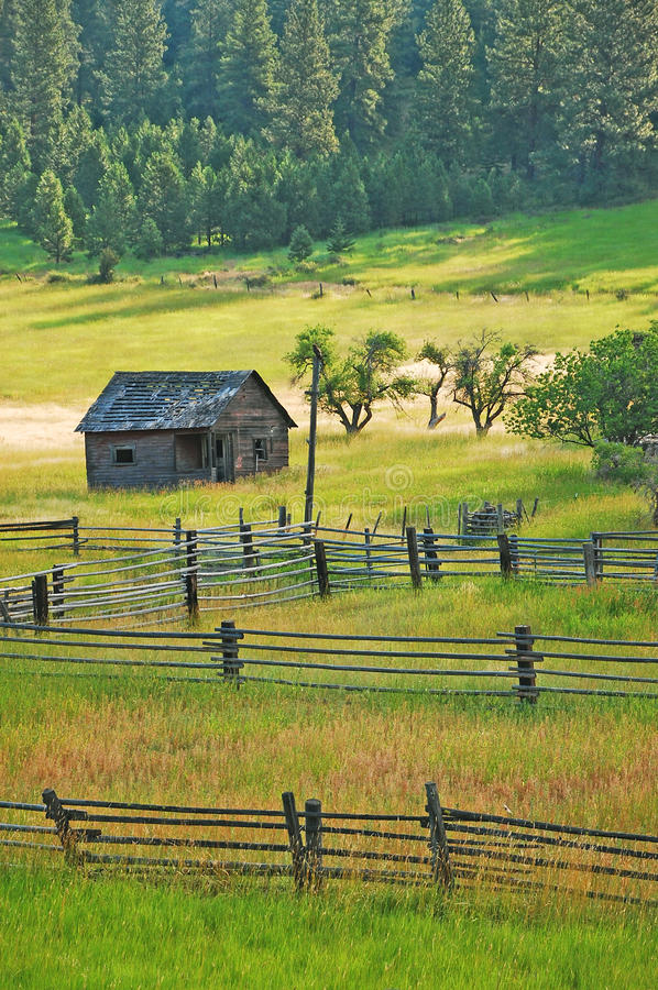 Free Old Shack In Green Meadow Royalty Free Stock Images - 15383309