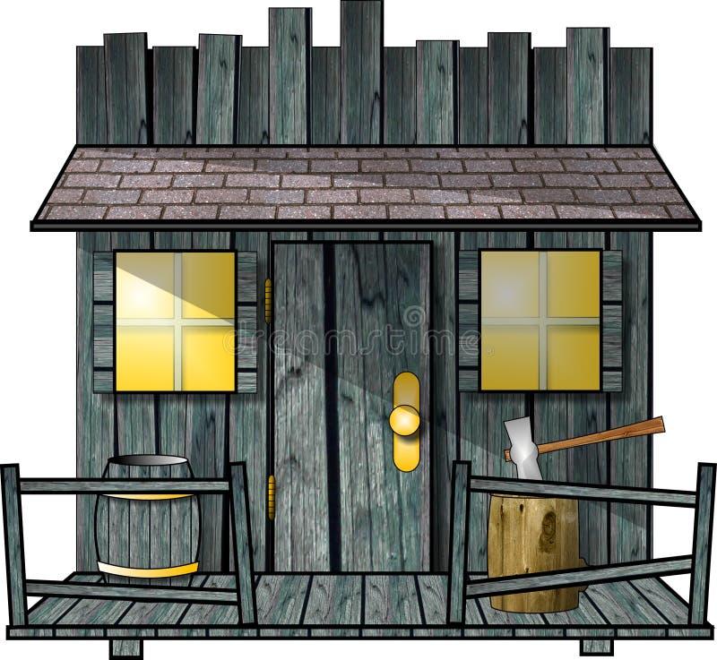 Download Old Shed stock illustration. Image of porch, barrel, cartoon - 160993