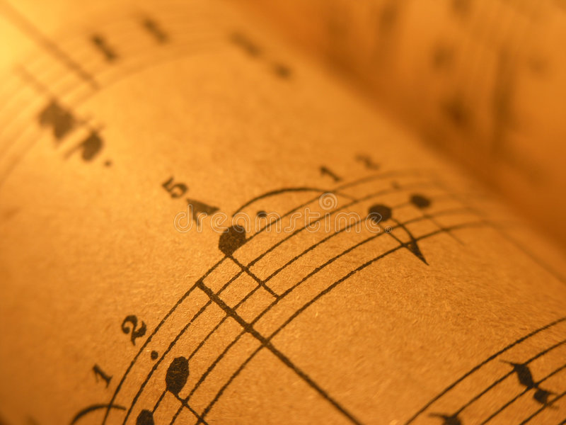 Old Sheet Music 1 stock images